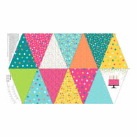 "Northcott This Calls for Cake Bunting 24"" Panel White Multi"
