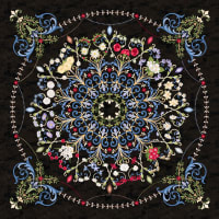 """Northcott Time After Time 43"""" Panel Black Multi"""