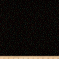 Henry Glass Flannel Snow Bird Confetti Dot Black