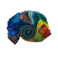 Kaufman Artisan Batiks Roll Ups Totally Tropical 40pcs