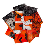 Kaufman Raven Moon Fat Quarter Bundle 8 pcs Pumpkin