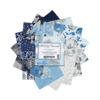 Kaufman Charm Squares Holiday Flourish 42 Pcs Blue