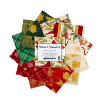Kaufman Charm Squares Winter's Grandeur 42 Pcs Holiday