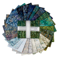 Kaufman Artisan Batiks Fat Quarter Bundles Twilight Metallic 25 pcs Snowfall