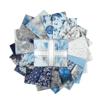 Kaufman Fat Quarter Bundles Holiday Flourish 17 Pcs Blue
