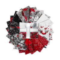 Kaufman Fat Quarter Bundles Holiday Flourish 21 Pcs Silver