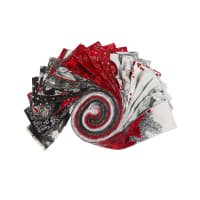 Kaufman Metallic Roll Ups Holiday Flourish 40pcs Silver