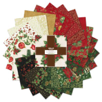 Kaufman Ten Squares Metallic Holiday Flourish 42pcs Holiday