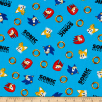 Kaufman Sonic The Hedgehog Sonic With Rings Blue
