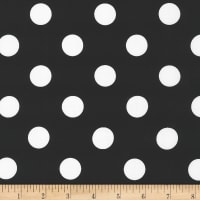 Kaufman Sevenberry Petite Basics Large Dots Black