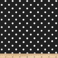 Kaufman Sevenberry Petite Basics Dots Black