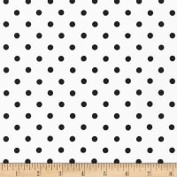 Kaufman Sevenberry Petite Basics Dots Jet Black