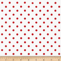 Kaufman Sevenberry Petite Basics Dots Cherry
