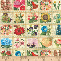 Kaufman Library of Rarities Flower Stamps Vintage