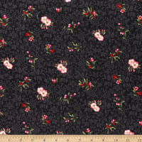 Kaufman Surrey Meadows Small Floral Charcoal