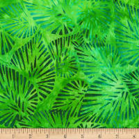 Kaufman Artisan Batiks Totally Tropical Palm Leaves Island Green