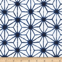 Kaufman Shibori Blues Geometric White