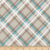 Kaufman Buffalo Flats Plaid Ash