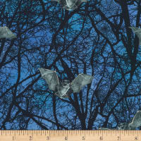 Kaufman Raven Moon Trees And Bats Spooky