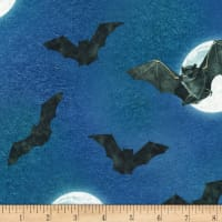 Kaufman Raven Moon Bats And Moons Spooky