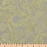 Kaufman Wildwood Grace Leaves Taupe
