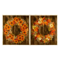 Kaufman Autumn Beauties Metallic Panel Wreath Autumn
