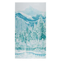"Kaufman First Snow Metallic Mountain 24"" Panel Pine"