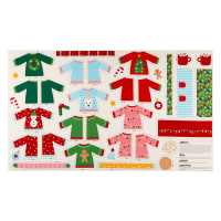 "Kaufman Girl Friends Holiday Party Sweater 24"" Panel Holiday"