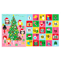 """Kaufman Girl Friends Holiday Party Advent Calendar 24"""" Panel Holiday"""