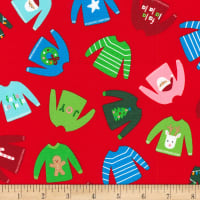Kaufman Girl Friends Holiday Party Sweaters Red