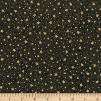 Kaufman Holiday Flourish 13 Stars And Dots Black