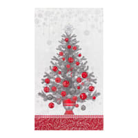 "Kaufman Holiday Flourish 13 Tree 24"" Panel Silver"
