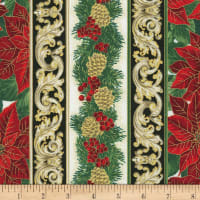 Kaufman Holiday Flourish 13 Stripe Holiday