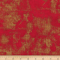 Kaufman Metallic Winter's Grandeur 8 Texture Red