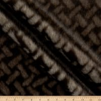 Shannon Lux Faux Fur Herringbone Ivory/Brown
