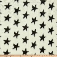 Shannon Lux Faux Fur Star  Ivory/Black