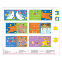 "Huggable & Loveable 8 Twinkle Twinkle Little Star Book 36"" Panel Multi"