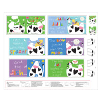 "Huggable & Loveable 8 Hey Diddle Diddle Book 36"" Panel Multi"