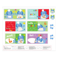 "Huggable & Loveable 8 Pat-A-Cake Book 36"" Panel Multi"
