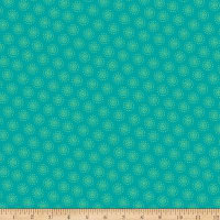 Owl's Woodland Adventure Tonal Dotted Dots Teal