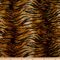 Fabric Base Velboa Smooth Wave Prints Tiger Gold