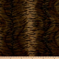Velboa Smooth Wave Prints Tiger Brown