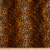 Fabric Base  Velboa Smooth Wave Prints  Leopard Gold