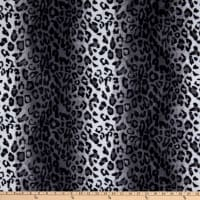 Fabric Base Velboa Smooth Wave Prints Leopard Snow