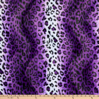 Fabric Base Velboa Smooth Wave Prints Leopard Purple
