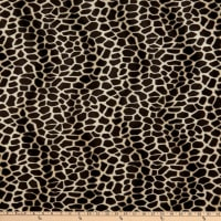 Fabric Base Velboa Smooth Wave Prints Giraffe Brown