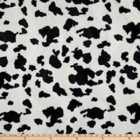 Fabric Base Velboa Smooth Wave Prints Cow Small