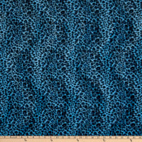 Fabric Base Velboa Smooth Wave Prints Cheetah Blue
