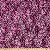 Velboa Smooth Wave Prints Cheetah Pink