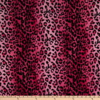 Fabric Base Velboa Smooth Wave Prints Leopard Pink